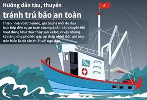 Hướng dẫn tàu, thuyền tránh trú bão an toàn