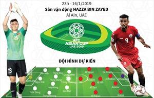 Asian Cup 2019: Dự kiến đội hình xuất phát trận Việt Nam - Yemen