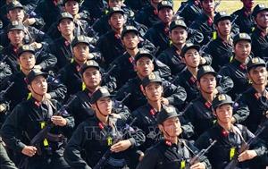 Lực lượng vũ trang nghiêm túc tập luyện cho lễ kỷ niệm 65 năm Chiến thắng Điện Biên Phủ