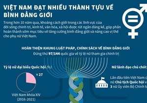 Việt Nam đạt nhiều thành tựu về bình đẳng giới