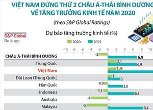 Dự báo Việt Nam đứng thứ 2 châu Á-Thái Bình Dương về tăng trưởng kinh tế