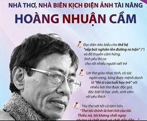 Nhà thơ, nhà biên kịch điện ảnh tài năng Hoàng Nhuận Cầm