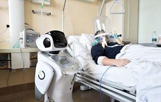 Robot tích cực chăm bệnh nhân COVID-19 tại Italy