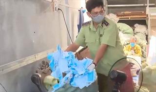 Long An mở rộng điều tra vụ việc 2 cơ sở tái chế khẩu trang
