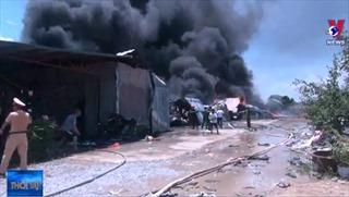 Cháy lớn tại Khu công nghiệp Tây Bắc Ga