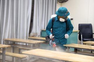 Hà Nội: Phun khử khuẩn trường học, chuẩn bị cho kỳ thi tốt nghiệp THPT 2020