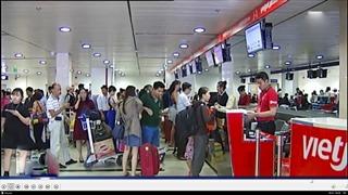 Dừng gần như toàn bộ chuyến bay nội địa đến và đi Hà Nội, TP Hồ Chí Minh