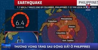 Thương vong tăng sau động đất ở Philippines