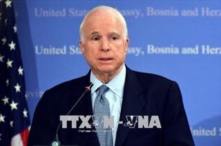 Chính giới Mỹ và quốc tế chia buồn trước sự ra đi của Thượng nghị sĩ John McCain