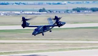 Máy bay nghiêng của Mỹ cất cánh thành công