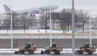 Máy bay trượt trên đường băng tại Mỹ