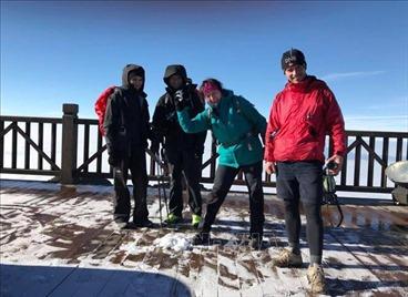 Nhiệt độ giảm sâu, đỉnh Fansipan có băng tuyết mỏng