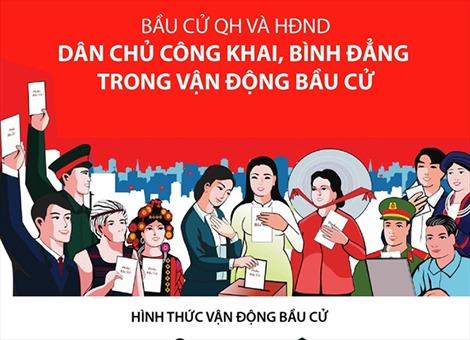 Dân chủ công khai, bình đẳng trong vận động bầu cử