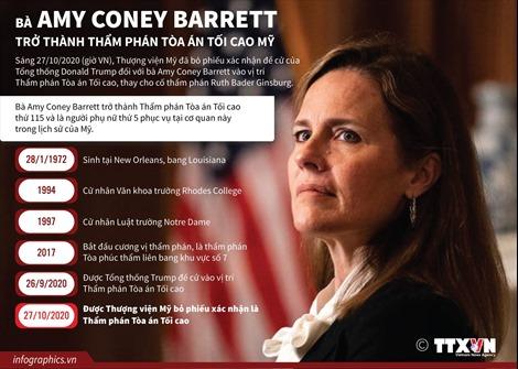 Bà Amy Coney Barrett trở thành Thẩm phán Tòa án Tối cao Mỹ
