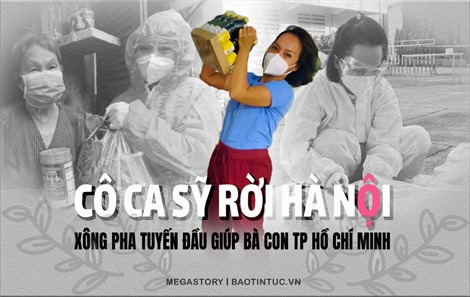 Cô ca sỹ rời Hà Nội, xông pha tuyến đầu giúp bà con TP Hồ Chí Minh chống dịch COVID-19
