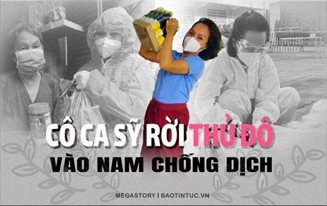 Cô ca sỹ rời Thủ đô vào Nam chống dịch