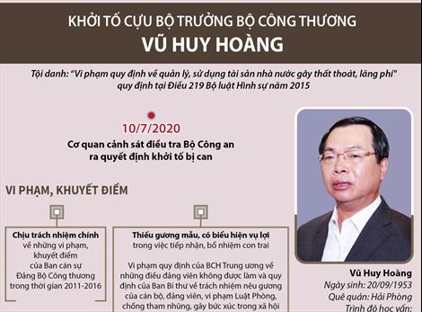 Những vi phạm, khuyết điểm của cựu Bộ trưởng Bộ Công Thương Vũ Huy Hoàng