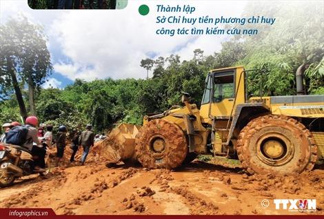 Khẩn trương cứu nạn, khắc phục hậu quả sạt lở đất trên địa bàn tỉnh Quảng Nam