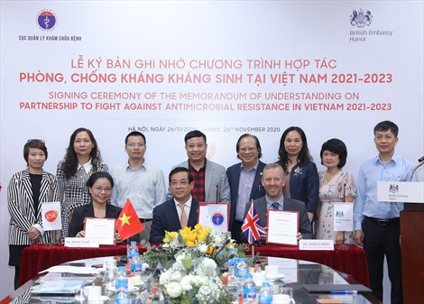 Ký kết chương trình Hợp tác phòng, chống kháng kháng sinh tại Việt Nam
