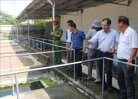 Kiểm tra việc bảo vệ môi trường của nhà máy chế biến hải sản sau khi TTXVN phản ánh