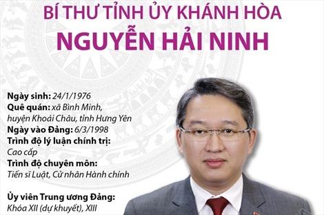 Bí thư Tỉnh ủy Khánh Hòa Nguyễn Hải Ninh