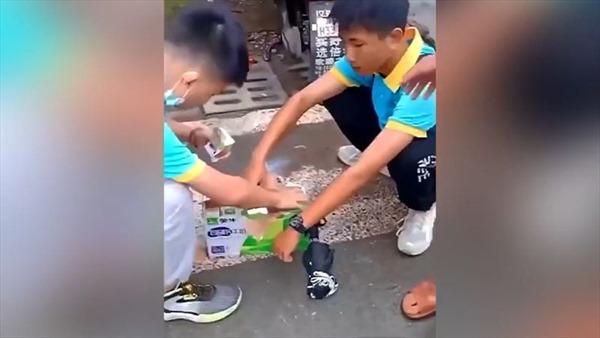Bị cấm mang đồ ăn vào trường, học sinh cố uống 24 hộp sữa một lúc