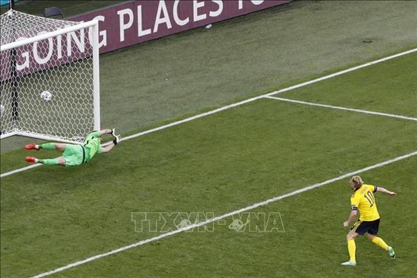 Thụy Điển lấy 3 điểm trước Slovakianhờ bàn thắng từ penalty