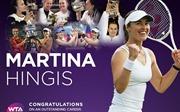Huyền thoại quần vợt Thụy Sỹ Martina Hingis tuyên bố giải nghệ