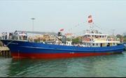 Hạ thủy tàu dịch vụ hậu cần nghề cá vỏ thép công suất lớn