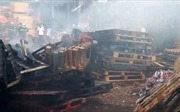 Cháy rụi xưởng gỗ rộng hơn 1.000 m2 tại Quảng Nam