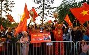 Không khí đón đoàn thể thao Việt Nam tại sân bay Nội Bài