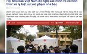 Hội Nhà báo Việt Nam đề nghị xác minh và có hình thức xử lý luật sư xúc phạm nhà báo