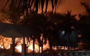 Cháy kho chứa gần 15.000 tấn hạt điều