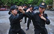 Hình ảnh đẹp trong tập luyện của các nữ chiến sĩ CSCĐ tỉnh Ninh Bình