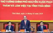 Thủ tướng mong sự 'bứt phá' của tỉnh Thái Bình