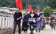 Đồng bào Mông ở Mù Cang Chải vui Tết Độc lập