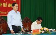 Đồng chí Trần Thanh Mẫn làm việc tại Trà Vinh về thực hiện Chỉ thị số 35-CT/TW của Bộ Chính trị