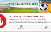 Các trang bán vé online trận Việt Nam - Philippines 'treo cứng' ngay những phút đầu mở bán