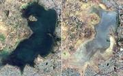 Hạn hán kinh hoàng ở Ấn Độ có thể nhìn thấy từ vũ trụ