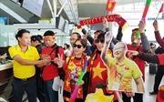 Clip người hâm mộ nhuộm đỏ sân bay Nội Bài, lên đường cổ vũ đội tuyển U22