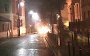 Anh: Xe ô tô phát nổ ngoài trụ sở tòa án nghi do đánh bom