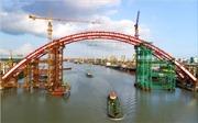 Tạm ngừng hoạt động luồng hàng hải sông Cấm để thi công cầu 'Cánh chim biển' 2.600 tỷ đồng