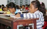 Lớp học nơi bản cao của sư cô trụ trì chùa Long Cát