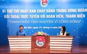 Bí thư thứ Nhất Trung ương Đoàn Lê Quốc Phong đối thoại với đoàn viên, thanh niên