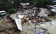 Sạt lở bờ sông ở thành phố Long Xuyên, 3 nhà dân bị cuốn trôi