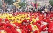 108 con lân đồng diễn xác lập kỉ lục Guinness Việt  Nam