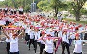 Trên 800 phụ nữ tham gia đồng diễn thể dục tại TP Hồ Chí Minh