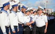 Lễ thay quân, tặng quà và chúc Tết tại huyện đảo Trường Sa
