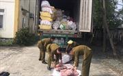 Bắt giữ xe container chở gần 12 tấn nội tạng động vật đã bốc mùi