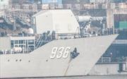 Xuất hiện hình ảnh tàu Trung Quốc chở súng điện từ ra biển